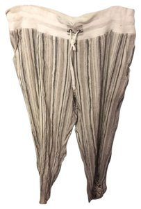 Soft Surroundings Casual Relaxed Pants beige brown grey multi