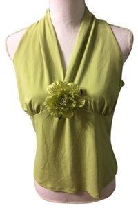 Floral Top lime green