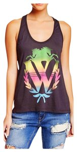 Wildfox Top Metal Black, Rainbow