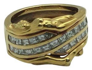 Carrera y Carrera Carrera y Carrera 18 K Yellow Gold Ring With Diamonds Size 6 1/2