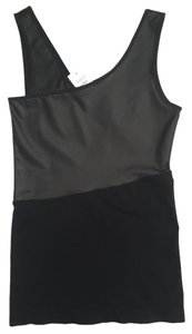 Bebe Faux Leather Top Black
