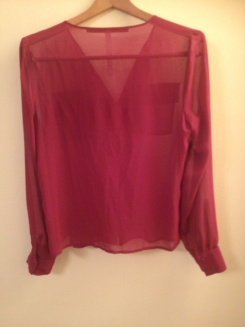 Kensie Sheer Top Magenta Pink
