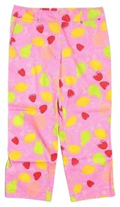 Lilly Pulitzer Crops Stretchy Vintage Capris Pink