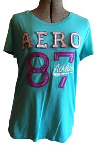 Aéropostale Aero T Shirt Green, Purple, White