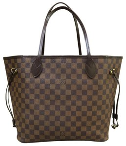 Louis Vuitton Neverfull Mm Tote in Brown Damier Ebene
