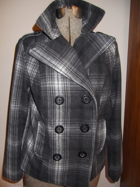Old Navy Grey and White Coat Size 8 (M) Old Navy Grey and White Coat Size 8 (M) Image 7