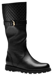 Gucci Women's Leather Horsebit Black Boots