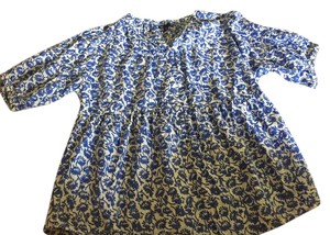 Gap #floral #gap Top Blue beige floral