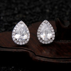 Silvler/Rhodium Vintage Chic Micro Pave Brilliant Crystal Earrings