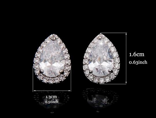 Silvler/Rhodium Vintage Chic Micro Pave Brilliant Crystal Earrings Image 1