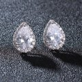 Silvler/Rhodium Vintage Chic Micro Pave Brilliant Crystal Earrings Image 2