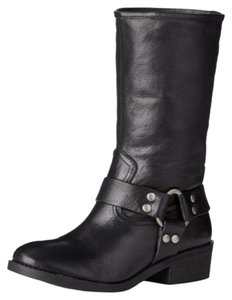 Lucky Brand Leather Mid-calf Black Boots