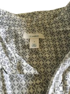 Caslon #caslon #nordstrom Button Down Shirt Grey/Tan white
