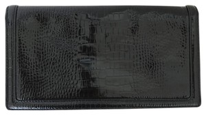 Banana Republic Scaley Glossy Designer New Black Clutch