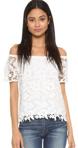 WAYF Nordstrom Off The Lace Top White