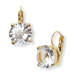 Kate Spade **NEW** Kate Spade Clear Round Lever Back Earrings