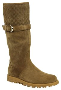 Gucci Women's Suede Horsebit Brown Boots