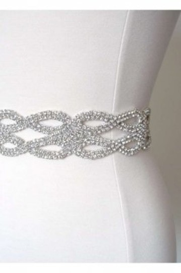 White Beaded Sash
