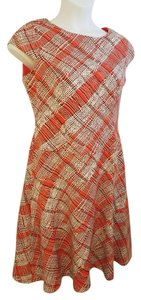 Anne Klein short dress Orange plaid on Tradesy