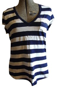 Justice Sparkle T Shirt Blue and White