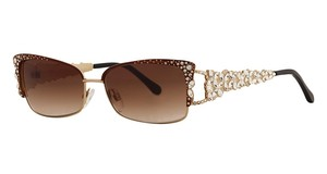 Caviar Eyewear CAVIAR 5600 Sunglasses Gold (C84) Crystal Stones Authentic New