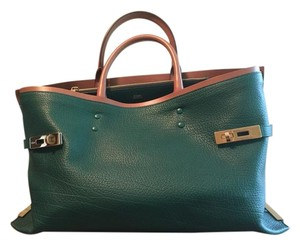 Chloé Leather Chloe Charlotte Tote in Green