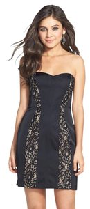 Aidan Mattox Lace Black Cocktail Dress