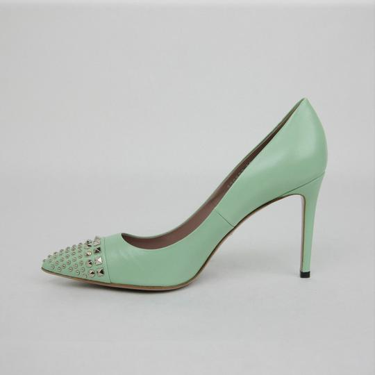 Gucci Leather Studded Light Green Pumps Image 6