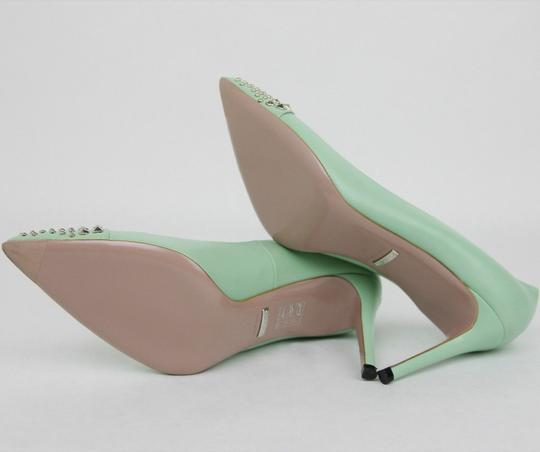 Gucci Leather Studded Light Green Pumps Image 7