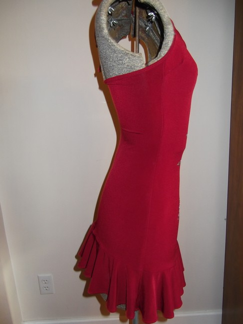 Hot Sauce Style Mini Silver Halter Top Party Dress Image 3
