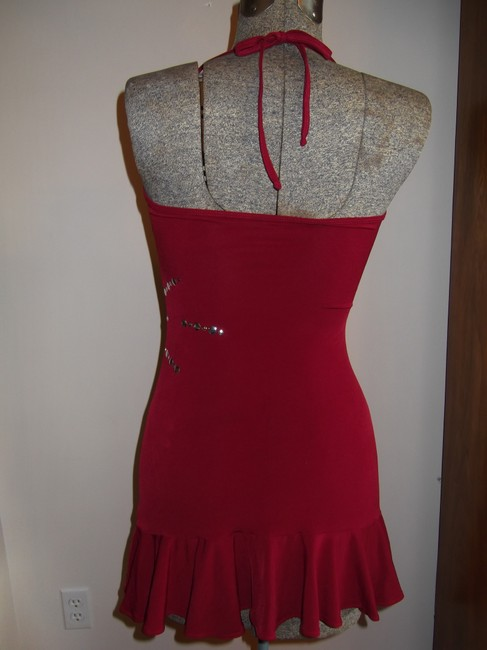 Hot Sauce Style Mini Silver Halter Top Party Dress Image 4