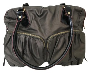 MZ Wallace Travel Gym Diaper Double Straps Double Handles Tote in Brown