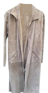 Armani Collezioni Suede Tunic Suede Tunic Tan Leather Jacket