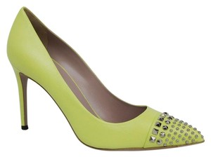 Gucci Leather Light Yellow Pumps
