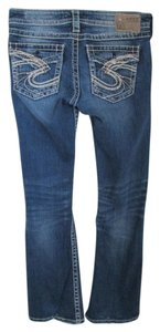 Silver Jeans Co. Denim Distressed Boot Cut Jeans-Distressed
