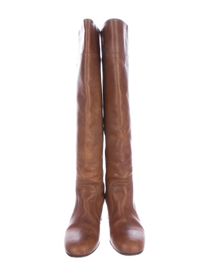 Chanel Knee High Brown Boots Image 1