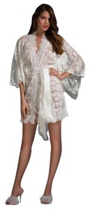 Agent Provocateur French Lace Matinee Kimono Robe One Size