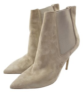 Burberry Chelsea Pointed Toe Beige Boots