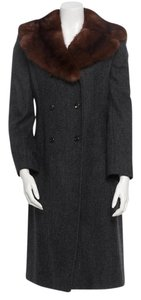 Dolce&Gabbana Elegant Sable Collar Trench Coat