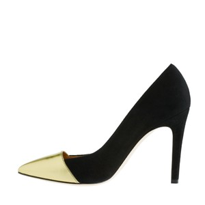 J.Crew Pump Shoe Suede Black Gold Pumps