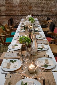 """Burlap 10 Extra Wide Table Runners 18"""" X 108"""" Jute Event Party Reception Decor Anniversary Banquet Tablecloth"""