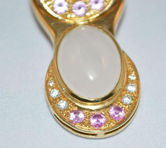 MAKE YOUR OFFER pink zaphire earrings 18K. Image 1