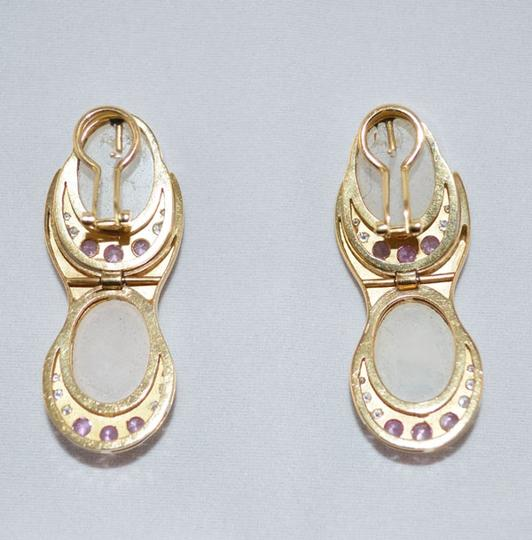 MAKE YOUR OFFER pink zaphire earrings 18K. Image 2