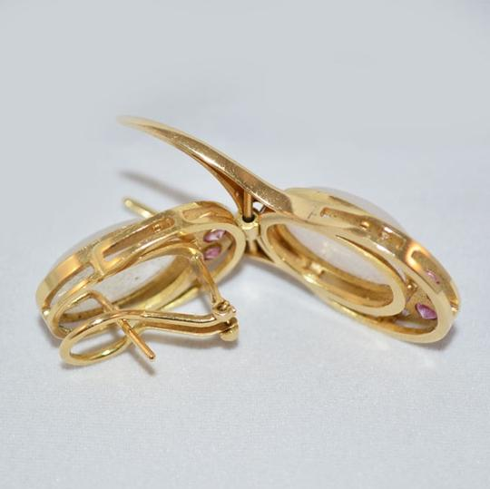 MAKE YOUR OFFER pink zaphire earrings 18K. Image 3