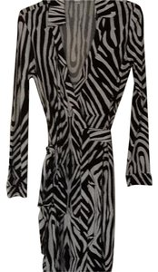 White background with black print Maxi Dress by Diane von Furstenberg Brand New Never Been Worn