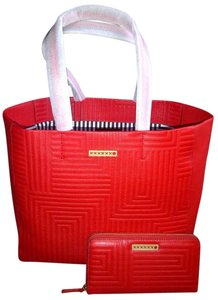 Kate Spade Very Stylish Leather Tote in Red