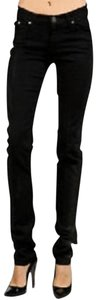 Rock & Republic Low Rise Leather Look Mid Rise Skinny Jeans-Coated