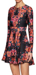 Torn by Ronny Kobo short dress Stretchy Print A-line Longsleeve Floral on Tradesy