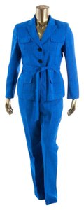 Le Suit Le Suit New Sea Blue Belted Three-Button Jacket Pant Suit 18