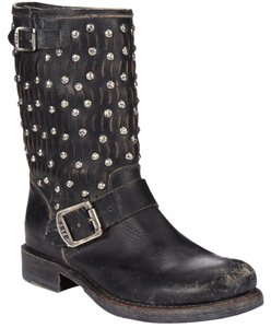 Frye Distressed Black Boots